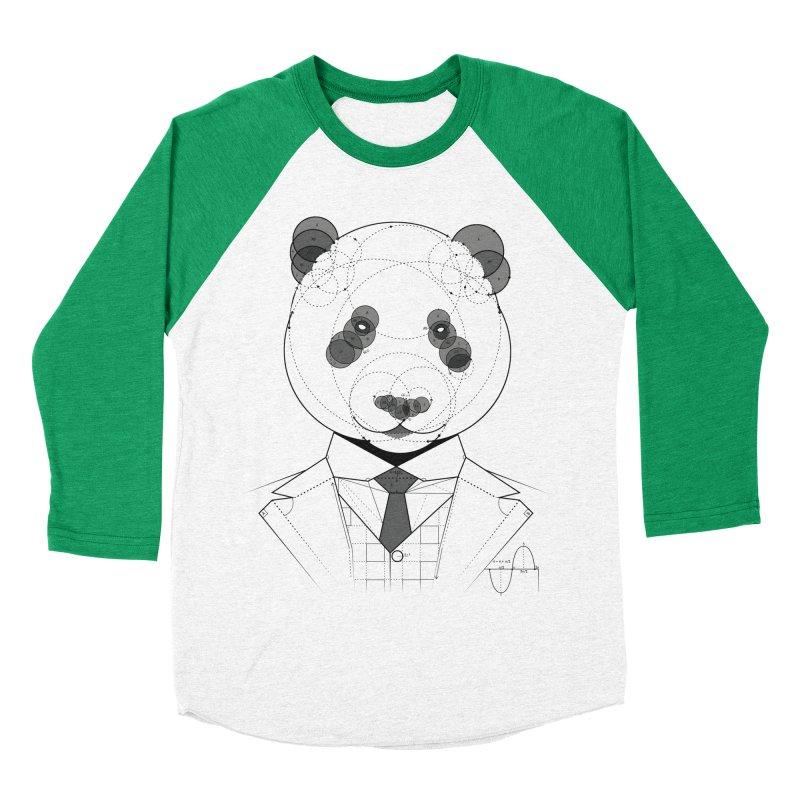 Geometric Panda Women's Baseball Triblend T-Shirt by yurilobo's Artist Shop
