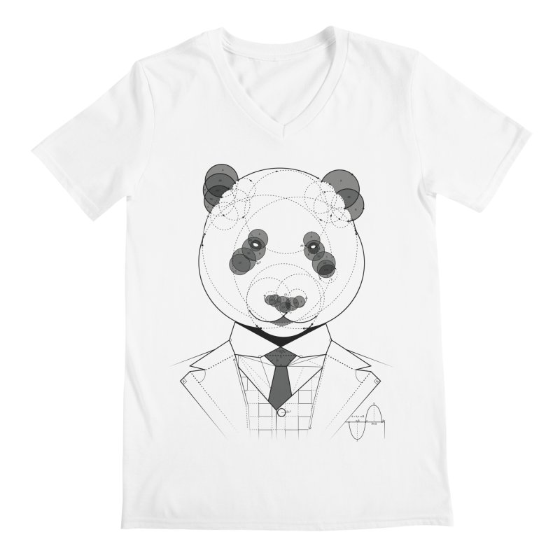 Geometric Panda Men's V-Neck by yurilobo's Artist Shop