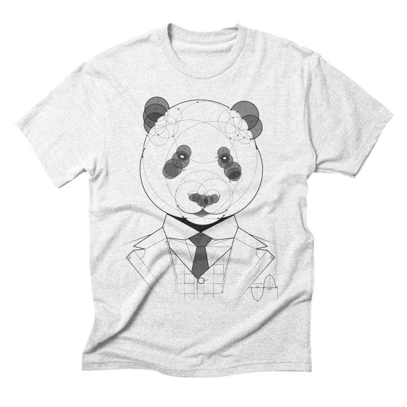 Geometric Panda Men's Triblend T-shirt by yurilobo's Artist Shop