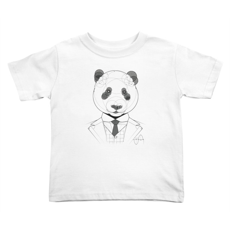 Geometric Panda Kids Toddler T-Shirt by yurilobo's Artist Shop