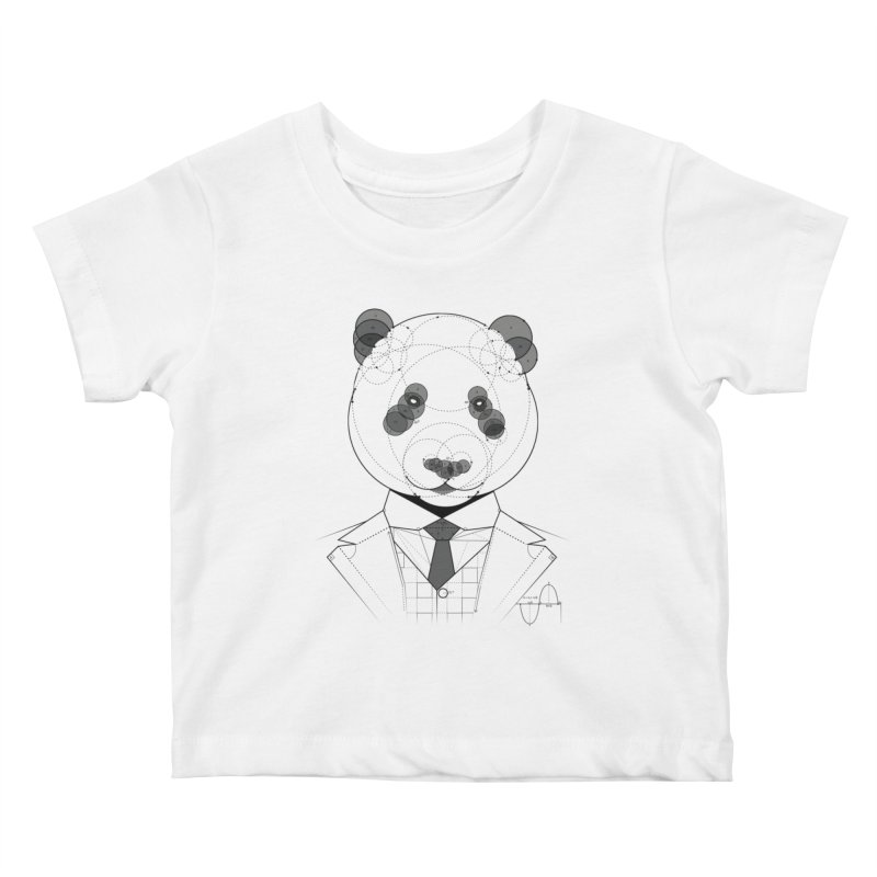 Geometric Panda Kids Baby T-Shirt by yurilobo's Artist Shop