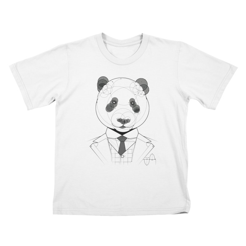 Geometric Panda Kids T-shirt by yurilobo's Artist Shop