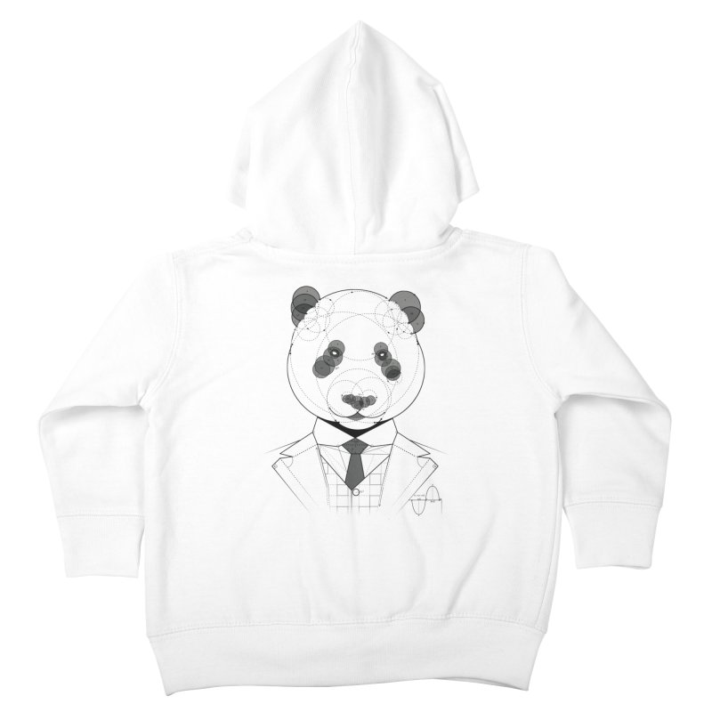 Geometric Panda Kids Toddler Zip-Up Hoody by yurilobo's Artist Shop