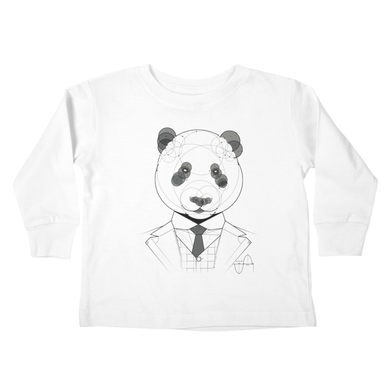 Geometric Panda Kids Toddler Longsleeve T-Shirt by yurilobo's Artist Shop