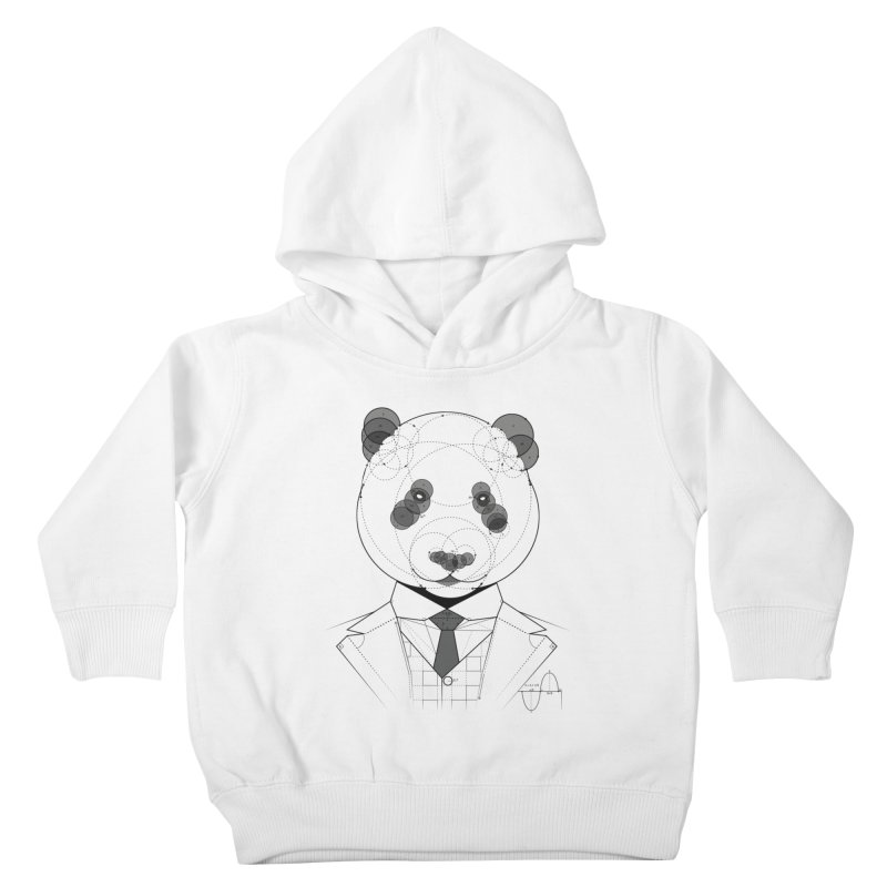 Geometric Panda Kids Toddler Pullover Hoody by yurilobo's Artist Shop