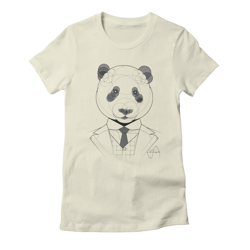 Geometric Panda Women's Fitted T-Shirt by yurilobo's Artist Shop
