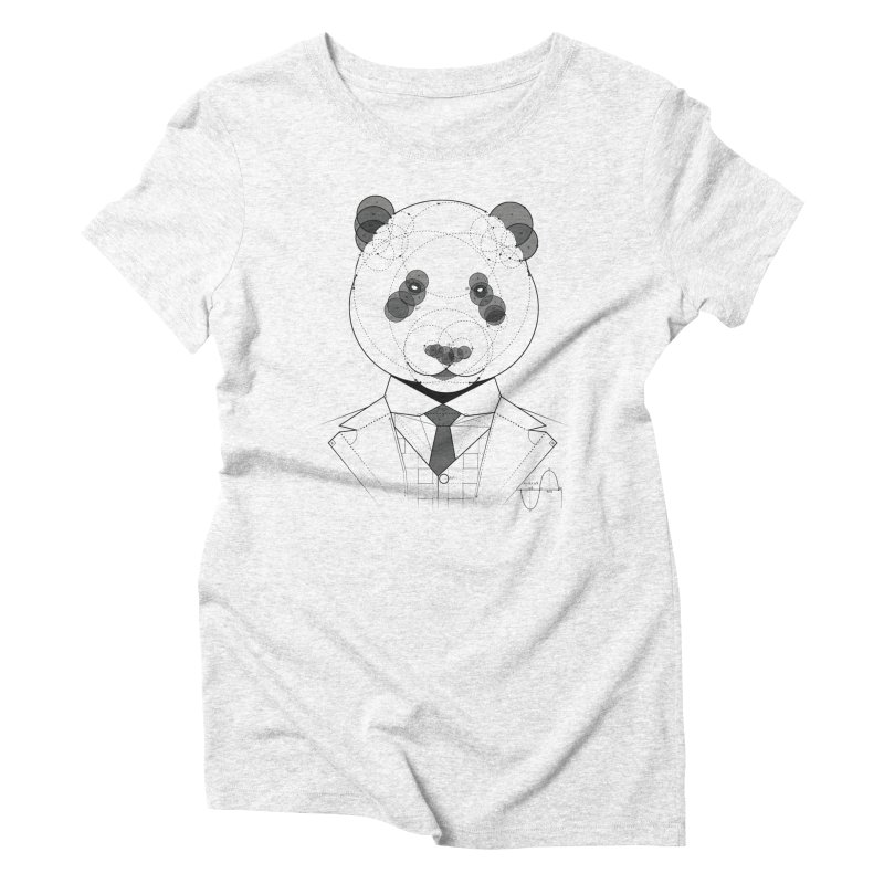 Geometric Panda Women's Triblend T-shirt by yurilobo's Artist Shop