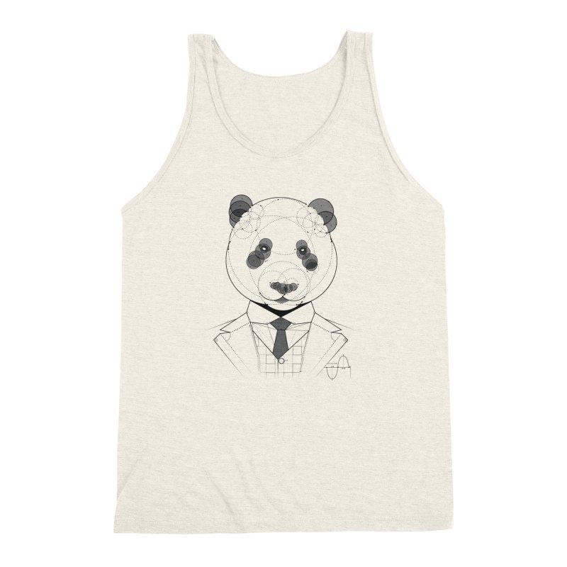 Geometric Panda Men's Triblend Tank by yurilobo's Artist Shop