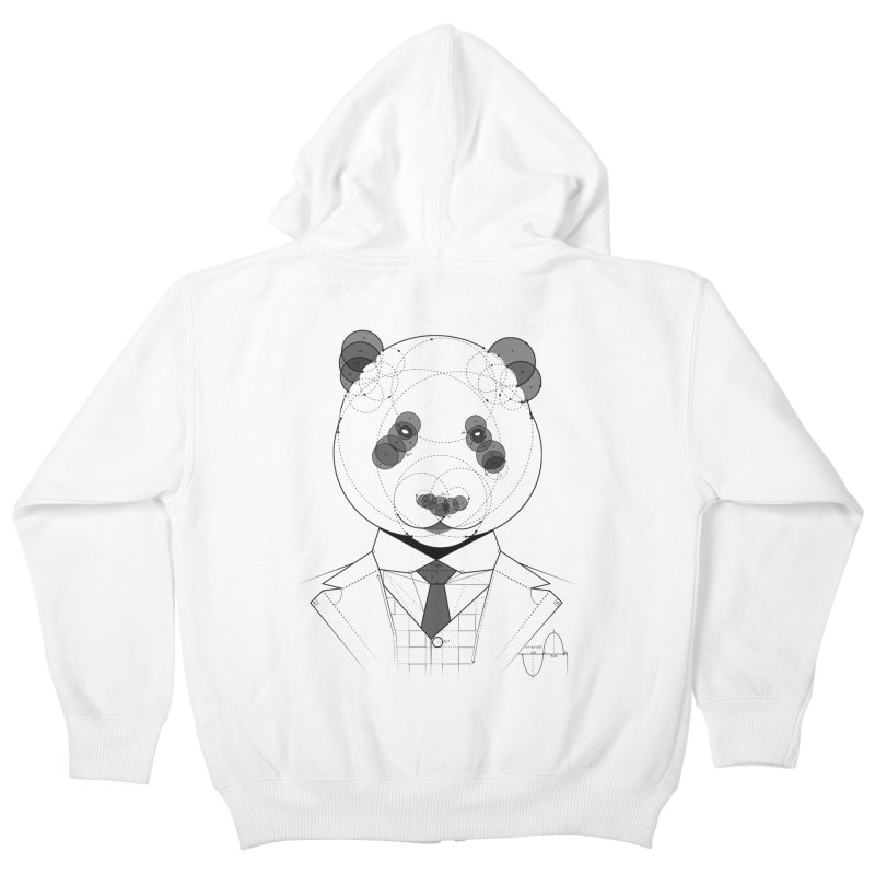Geometric Panda Kids Zip-Up Hoody by yurilobo's Artist Shop