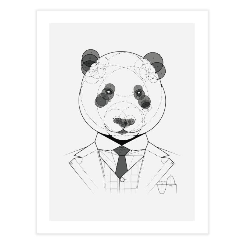 Geometric Panda Home Fine Art Print by yurilobo's Artist Shop