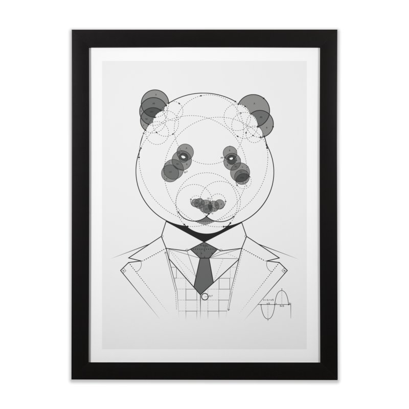 Geometric Panda Home Framed Fine Art Print by yurilobo's Artist Shop