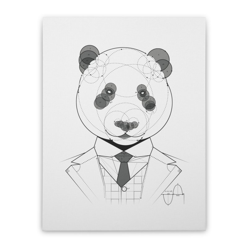 Geometric Panda Home Stretched Canvas by yurilobo's Artist Shop