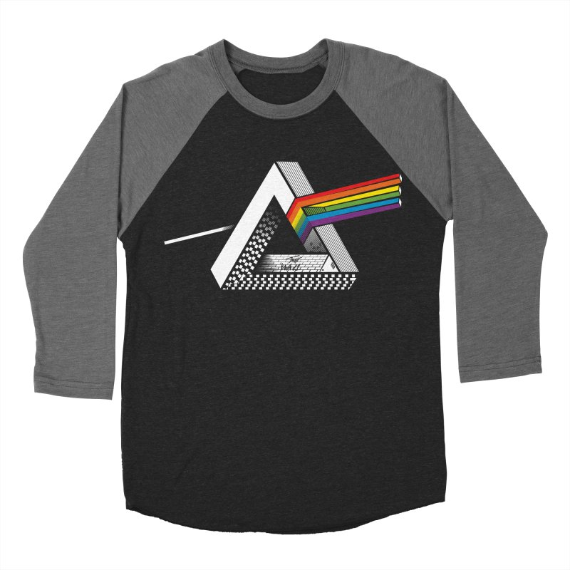 The Impossible Side of the Moon Men's Baseball Triblend Longsleeve T-Shirt by yurilobo's Artist Shop