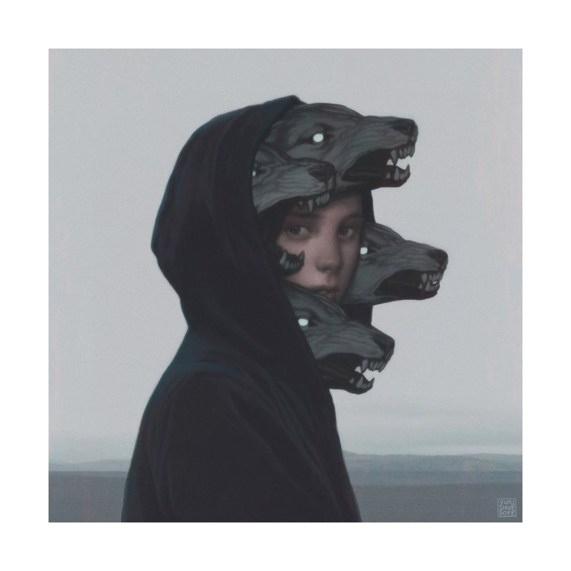 Wolf Pack Men's Cut & Sew by YURI SHWEDOFF