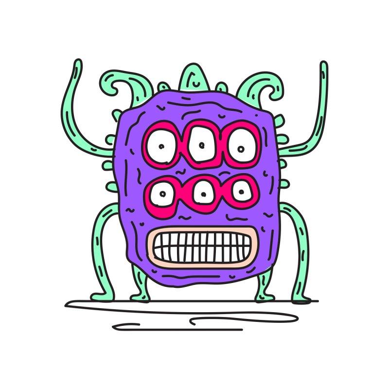 Yuvsketch Monsters - Monster 1 Accessories Skateboard by Yuvsketch's Shop