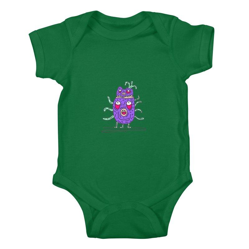 Yuvsketch Monsters - Monster 11 Kids Baby Bodysuit by Yuvsketch's Shop