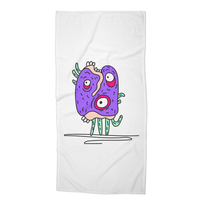 Yuvsketch Monsters - Monster 12 Accessories Beach Towel by Yuvsketch's Shop