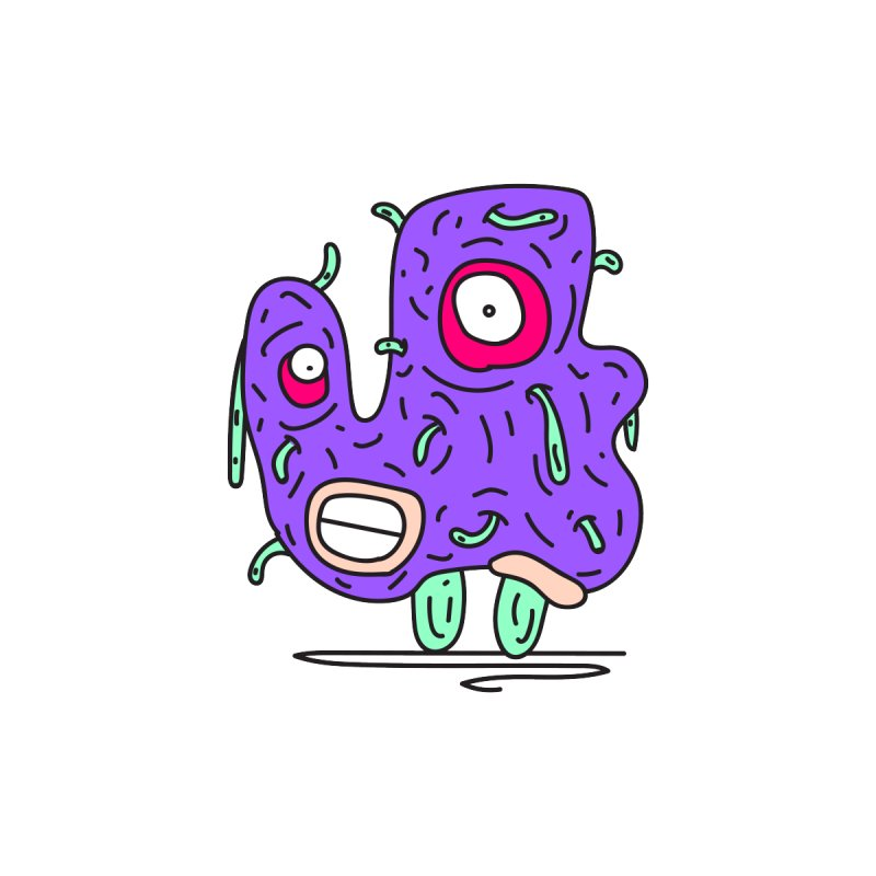 Yuvsketch Monsters - Monster 13 Home Blanket by Yuvsketch's Shop