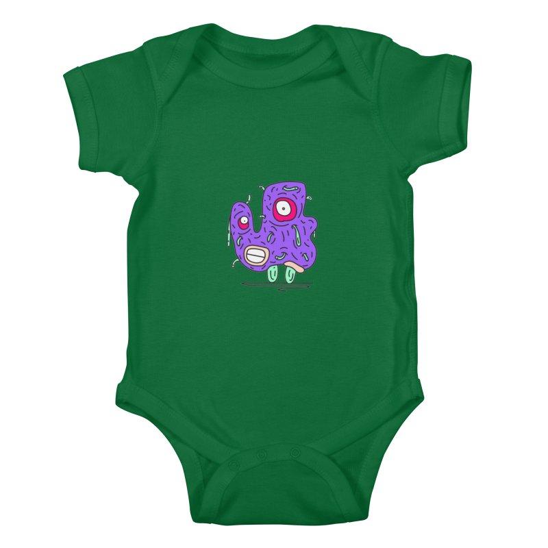 Yuvsketch Monsters - Monster 13 Kids Baby Bodysuit by Yuvsketch's Shop