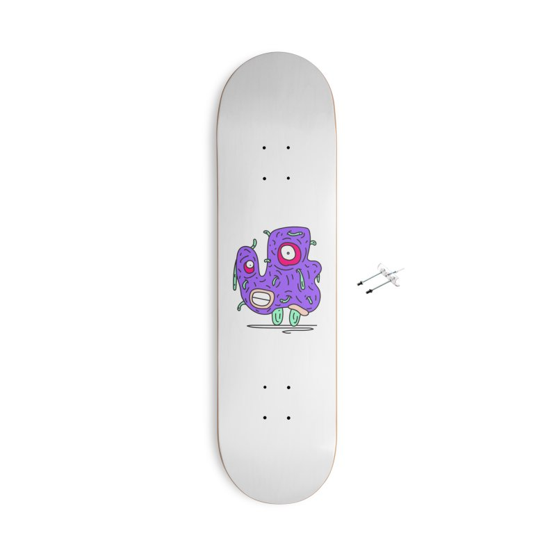 Yuvsketch Monsters - Monster 13 Accessories Skateboard by Yuvsketch's Shop