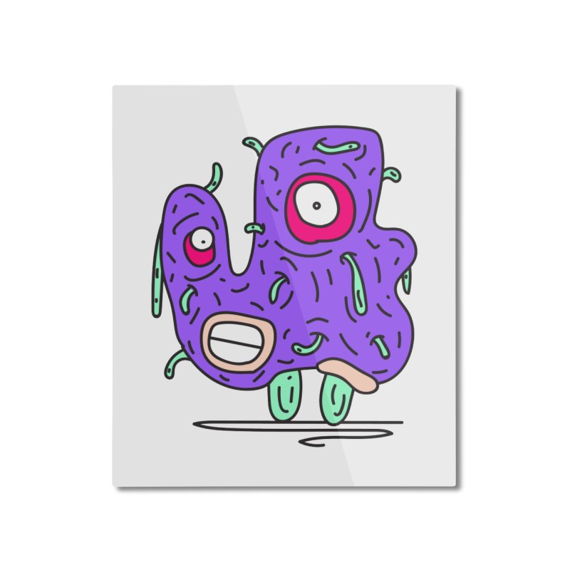 Yuvsketch Monsters - Monster 13 Home Mounted Aluminum Print by Yuvsketch's Shop