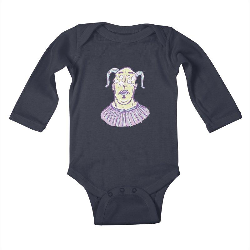 Yuvsketch - Shock Monster 1 Kids Baby Longsleeve Bodysuit by Yuvsketch's Shop