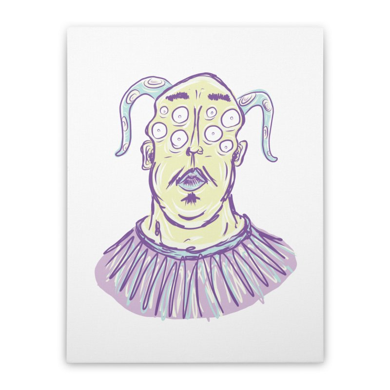 Yuvsketch - Shock Monster 1 Home Stretched Canvas by Yuvsketch's Shop