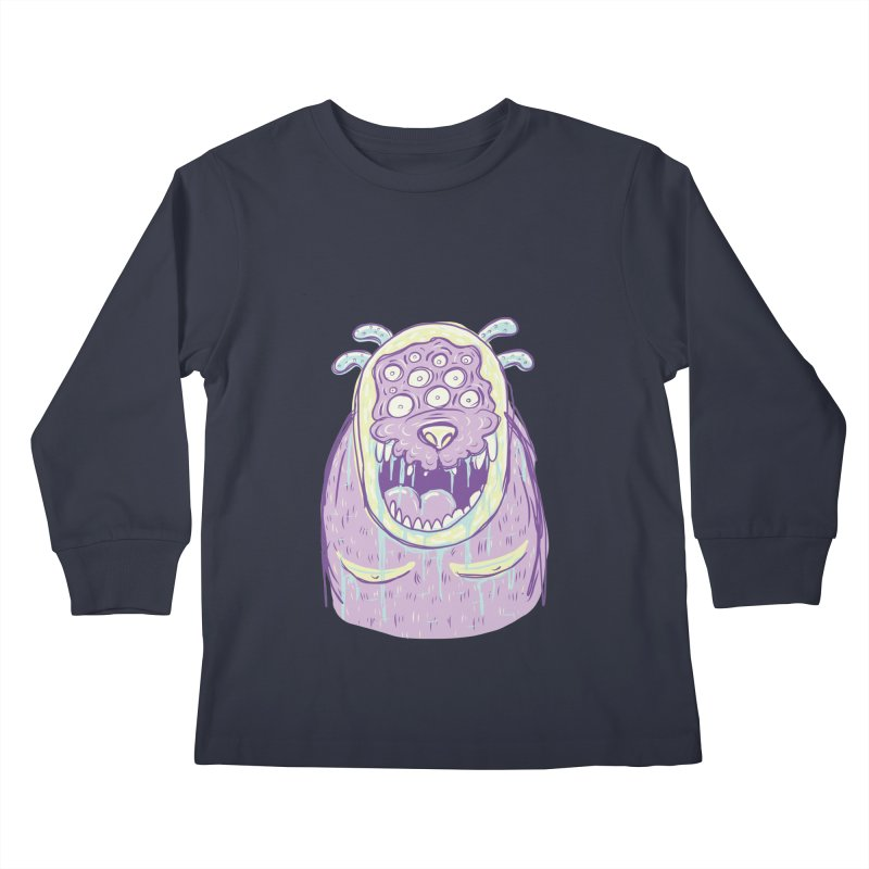 Yuvsketch - Shock Monster 2 Kids Longsleeve T-Shirt by Yuvsketch's Shop