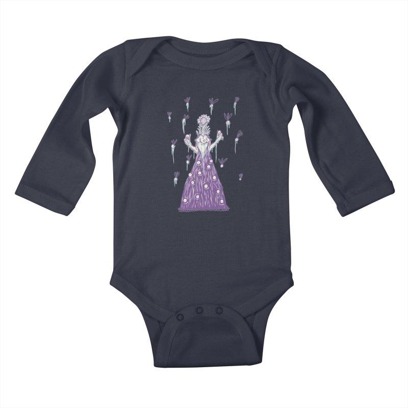 Yuvsketch - Shock Monster 4 Kids Baby Longsleeve Bodysuit by Yuvsketch's Shop