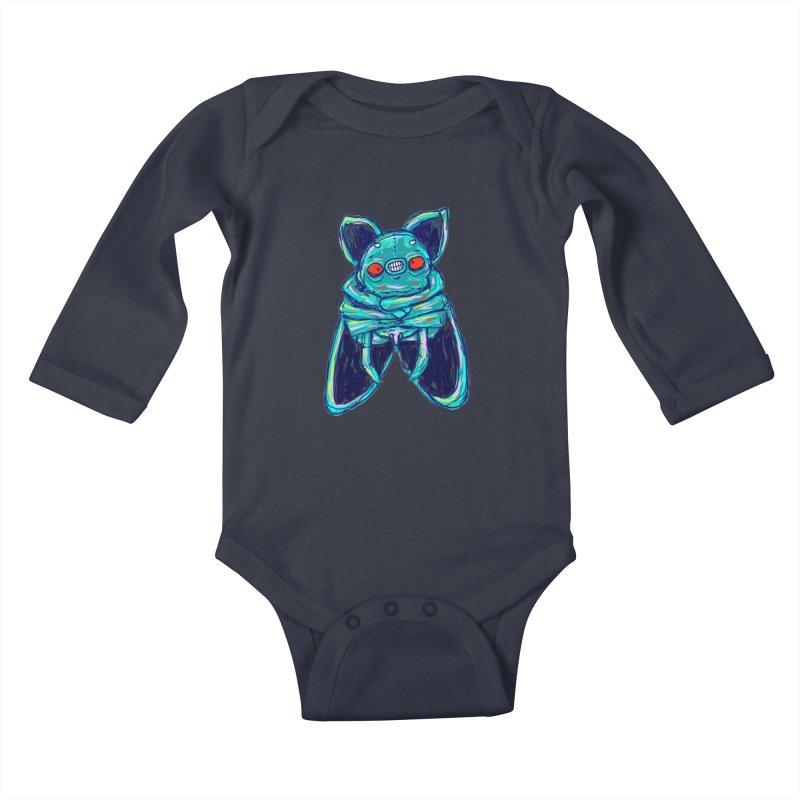 Yuvsketch Mix - Fly Bat Kids Baby Longsleeve Bodysuit by Yuvsketch's Shop