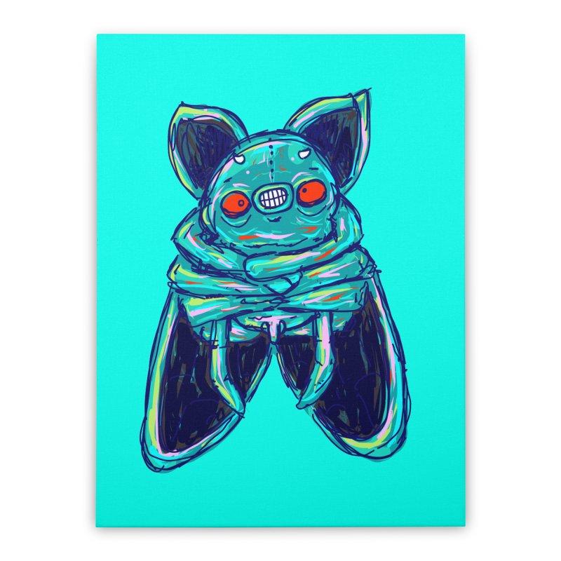 Yuvsketch Mix - Fly Bat Home Stretched Canvas by Yuvsketch's Shop