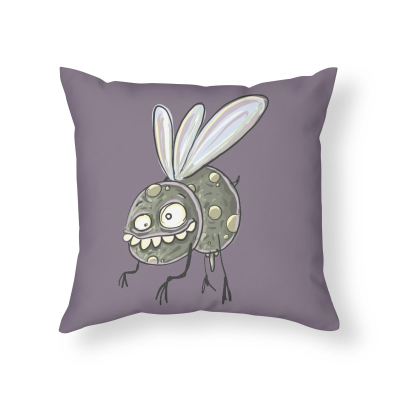Yuvsketch - Diry Fly Home Throw Pillow by Yuvsketch's Shop