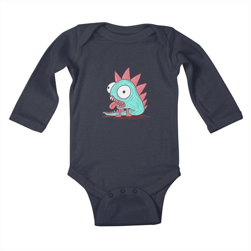 Yuvsketch - Dragon Dinosaur Kids Baby Longsleeve Bodysuit by Yuvsketch's Shop