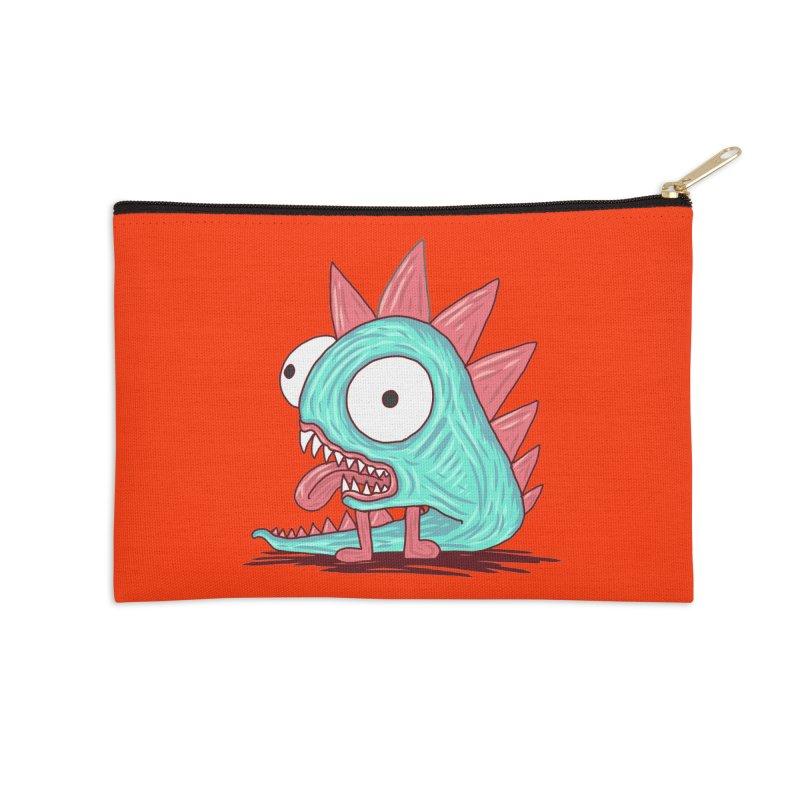 Yuvsketch - Dragon Dinosaur Accessories Zip Pouch by Yuvsketch's Shop
