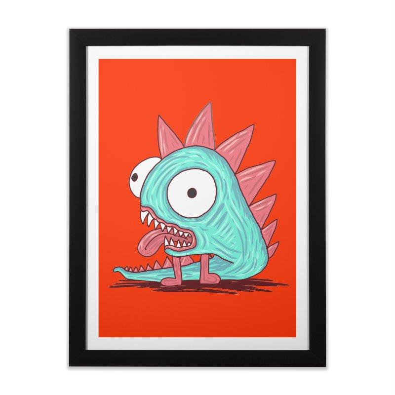 Yuvsketch - Dragon Dinosaur Home Framed Fine Art Print by Yuvsketch's Shop