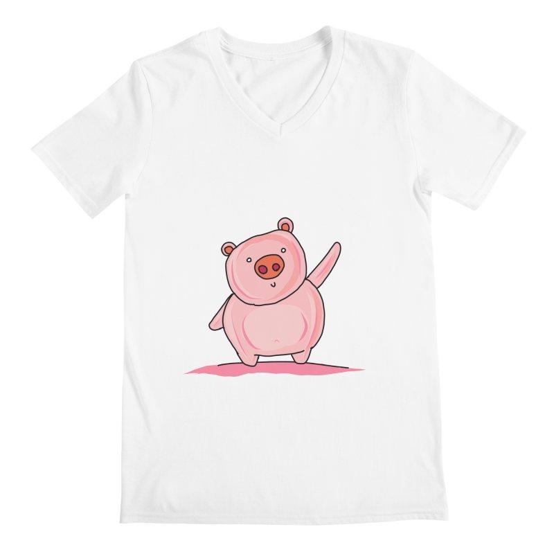 Yuvsketch - Piggy Men's V-Neck by Yuvsketch's Shop
