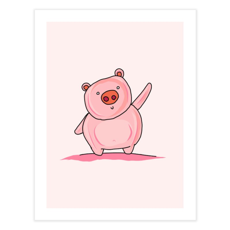 Yuvsketch - Piggy Home Fine Art Print by Yuvsketch's Shop