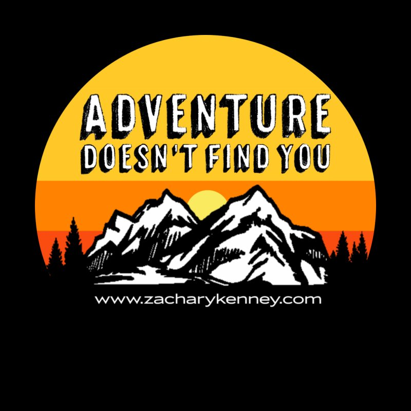 Adventure Doesn't Find You | Circle Logo Accessories Sticker by Zachary Kenney's Shop