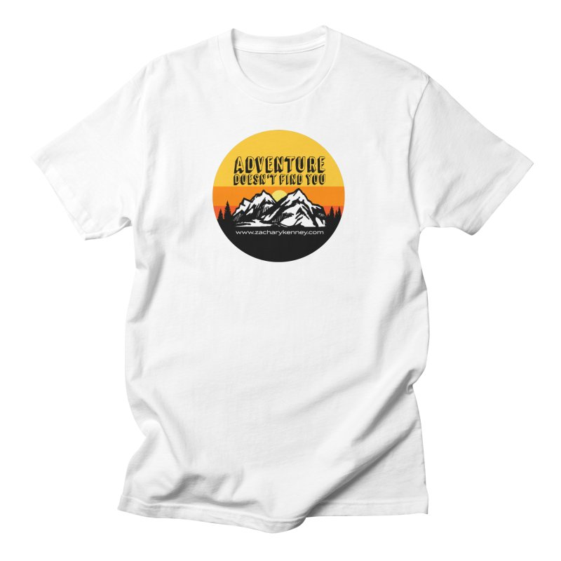 Adventure Doesn't Find You | Circle Logo Men's T-Shirt by Zachary Kenney's Shop