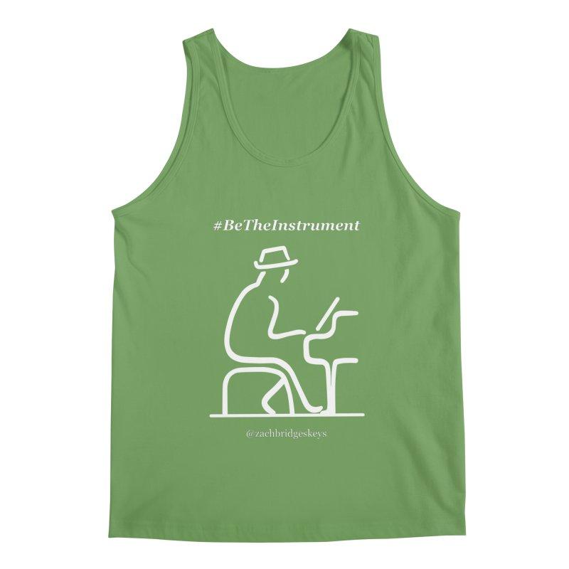 Be The Instrument (White) Men's Tank by The Zach Bridges Keys Shop!