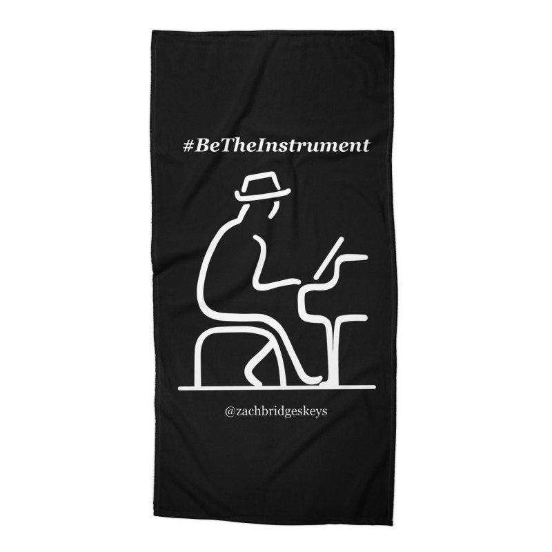 Be The Instrument (White) Accessories Beach Towel by The Zach Bridges Keys Shop!