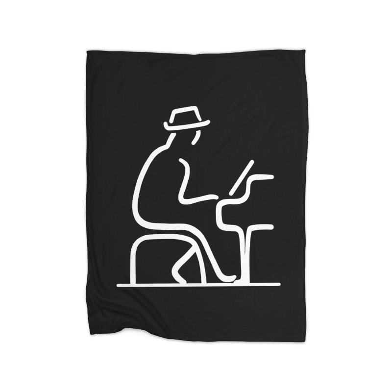 Be The Instrument (White, no text) Home Blanket by The Zach Bridges Keys Shop!