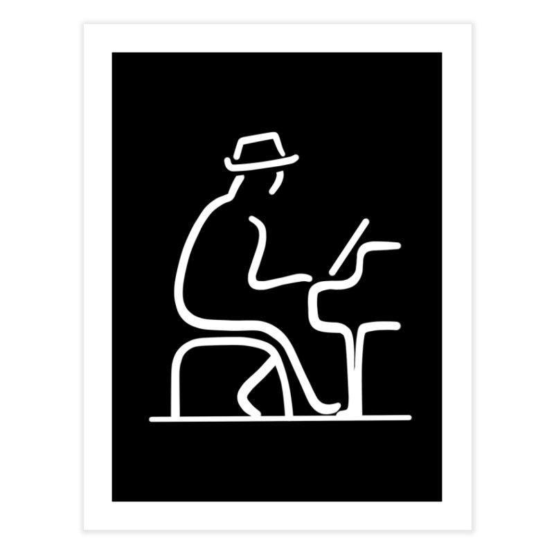 Be The Instrument (White, no text) Home Fine Art Print by The Zach Bridges Keys Shop!