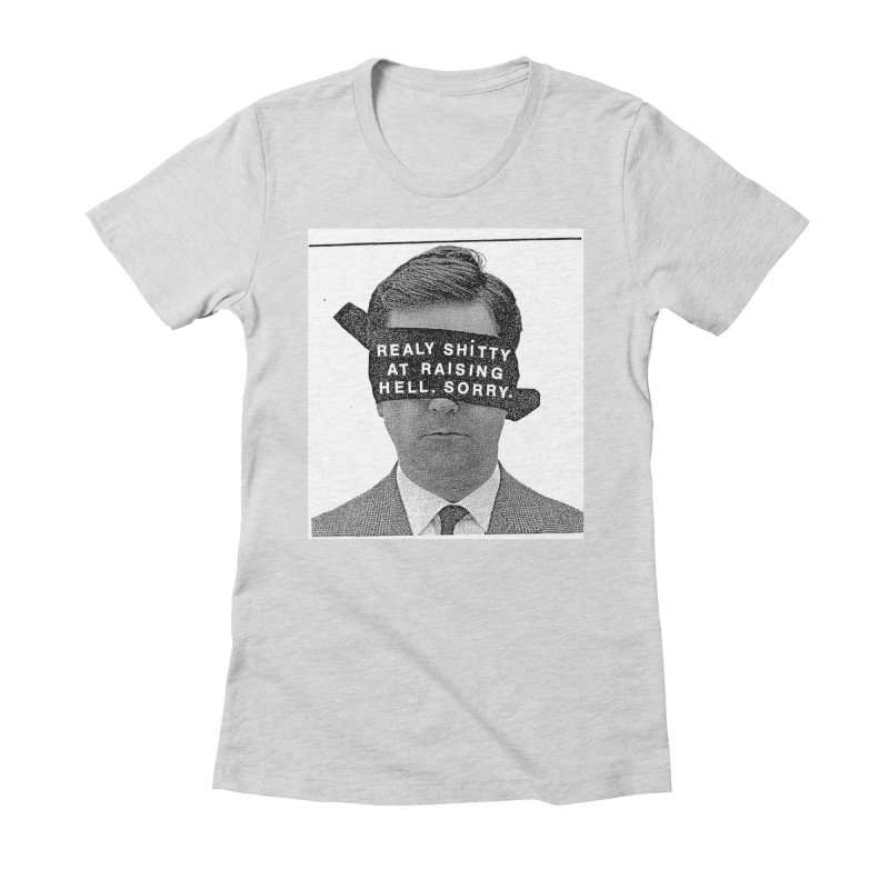REALY SHITTY Women's Fitted T-Shirt by Zachary Hobbs