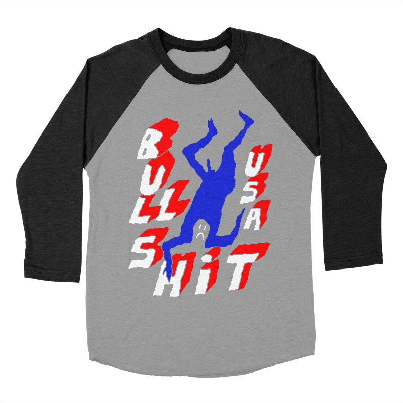 BULLSHIT USA Women's Baseball Triblend T-Shirt by Zachary Hobbs