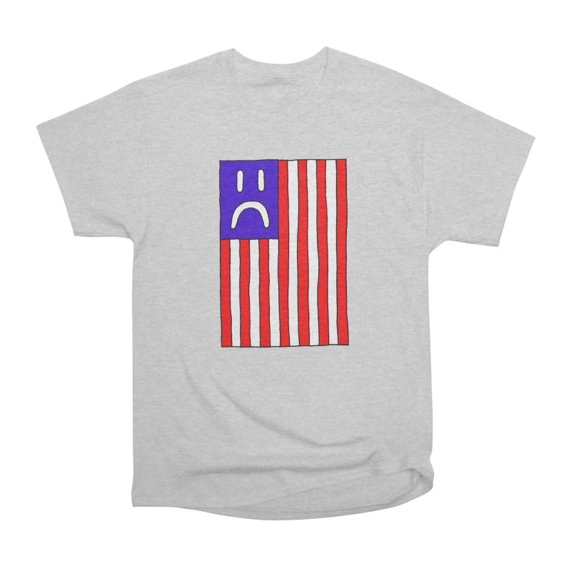 Sad Flag Women's Heavyweight Unisex T-Shirt by Zachary Hobbs