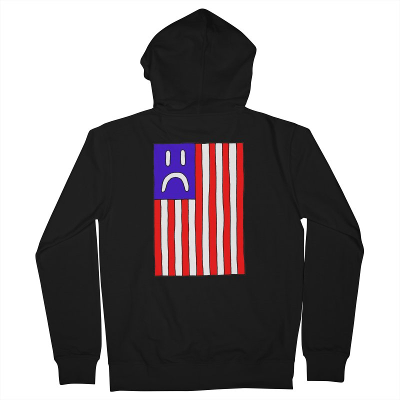 Sad Flag Women's Zip-Up Hoody by Zachary Hobbs