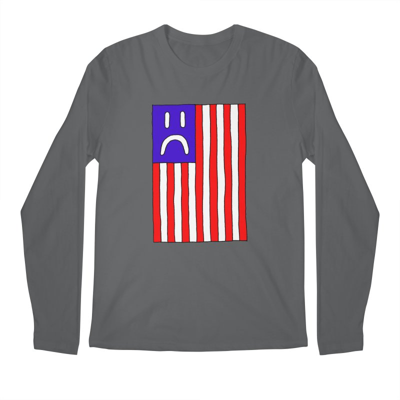 Sad Flag Men's Longsleeve T-Shirt by Zachary Hobbs