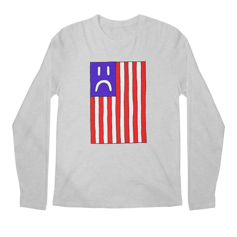 Sad Flag Men's Longsleeve T-Shirt by Zachary Hobbs