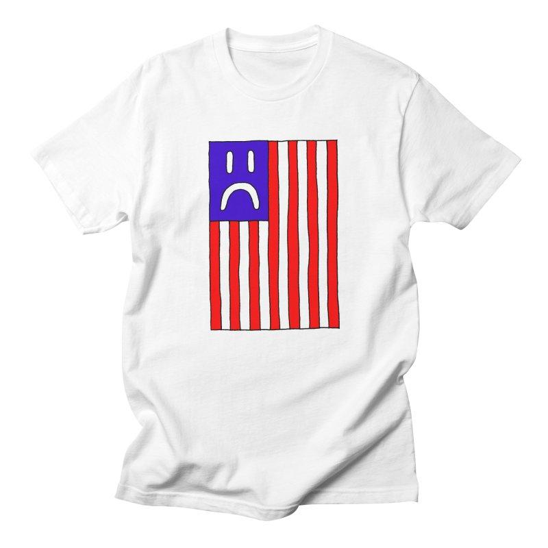 Sad Flag Men's T-Shirt by Zachary Hobbs